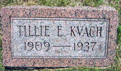 KVACH, TILLIE E. - Linn County, Iowa | TILLIE E. KVACH