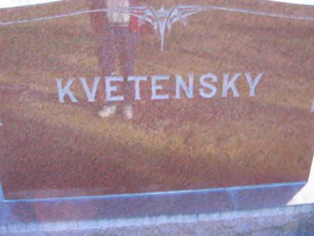 KVETENSKY, FAMILY STONE - Linn County, Iowa | FAMILY STONE KVETENSKY