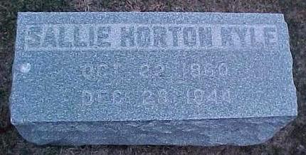 HORTON KYLE, SALLIE - Linn County, Iowa | SALLIE HORTON KYLE