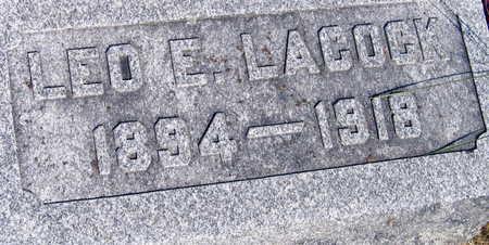 LACOCK, LEO E. - Linn County, Iowa   LEO E. LACOCK