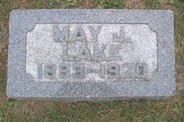 LAKE, MAY J. - Linn County, Iowa   MAY J. LAKE