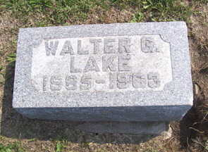 LAKE, WALTER G. - Linn County, Iowa | WALTER G. LAKE