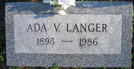 LANGER, ADA V. - Linn County, Iowa | ADA V. LANGER