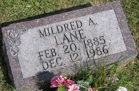 LANE, MILDRED A. - Linn County, Iowa | MILDRED A. LANE