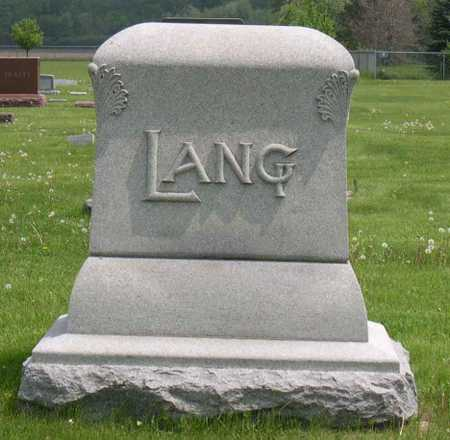 LANG, FAMILY STONE - Linn County, Iowa | FAMILY STONE LANG