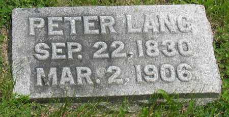 LANG, PETER - Linn County, Iowa   PETER LANG