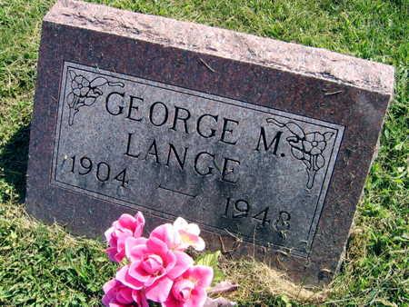 LANGE, GEORGE M. - Linn County, Iowa   GEORGE M. LANGE