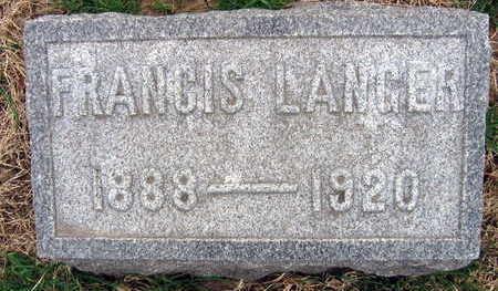 LANGER, FRANCIS - Linn County, Iowa | FRANCIS LANGER