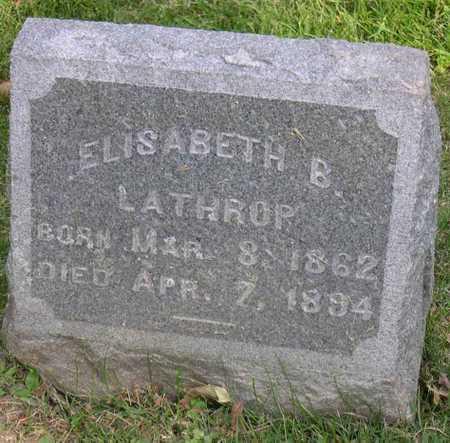 LATHROP, ELISABETH B. - Linn County, Iowa | ELISABETH B. LATHROP