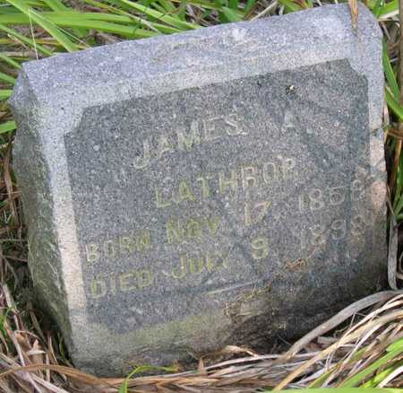LATHROP, JAMES A. - Linn County, Iowa | JAMES A. LATHROP