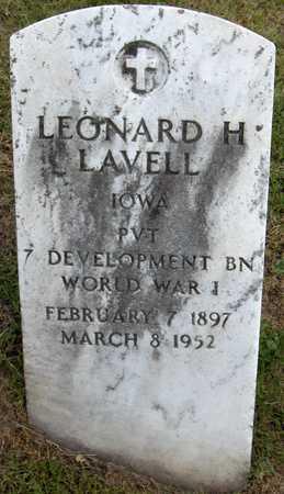 LAVELL, LEONARD H. - Linn County, Iowa   LEONARD H. LAVELL