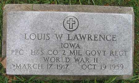 LAWRENCE, LOUIS W. - Linn County, Iowa | LOUIS W. LAWRENCE