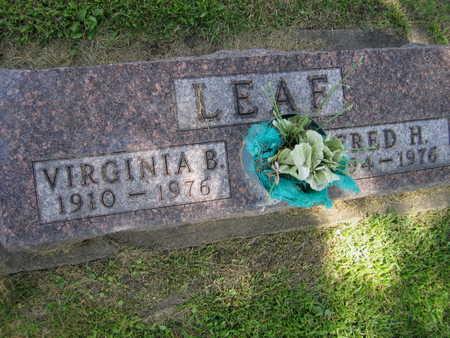 LEAF, VIRGINIA B. - Linn County, Iowa | VIRGINIA B. LEAF