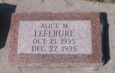 LEFEBURE, ALICE M. - Linn County, Iowa | ALICE M. LEFEBURE