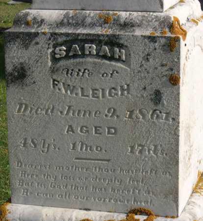 LEIGH, SARAH - Linn County, Iowa | SARAH LEIGH