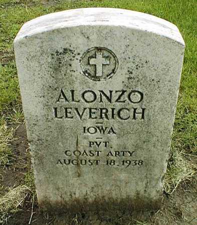 LEVERICH, ALONZO - Linn County, Iowa   ALONZO LEVERICH