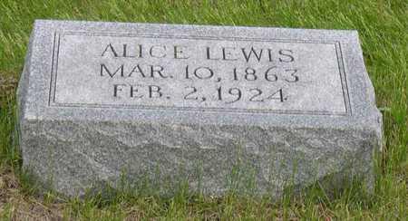 LEWIS, ALICE - Linn County, Iowa   ALICE LEWIS
