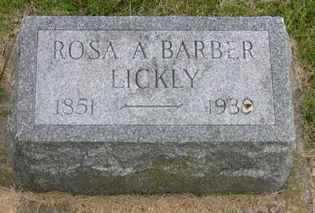 BARBER LICKLY, ROSA A. - Linn County, Iowa | ROSA A. BARBER LICKLY