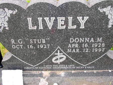 LIVELY, DONNA M. - Linn County, Iowa   DONNA M. LIVELY