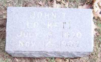 LOCKETT, JOHN T. - Linn County, Iowa | JOHN T. LOCKETT