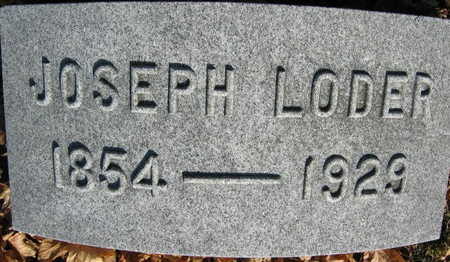 LODER, JOSEPH - Linn County, Iowa   JOSEPH LODER