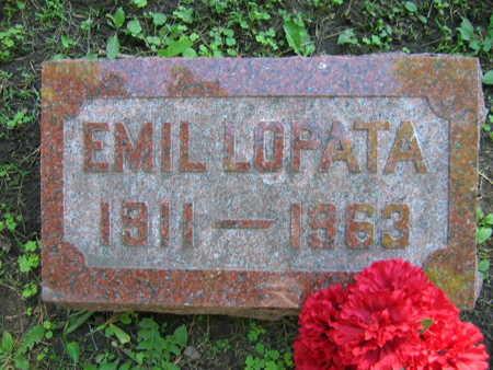 LOPATA, EMIL - Linn County, Iowa   EMIL LOPATA