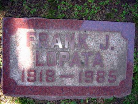 LOPATA, FRANK J. - Linn County, Iowa | FRANK J. LOPATA