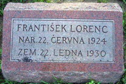 LORENC, FRANTISEK - Linn County, Iowa | FRANTISEK LORENC