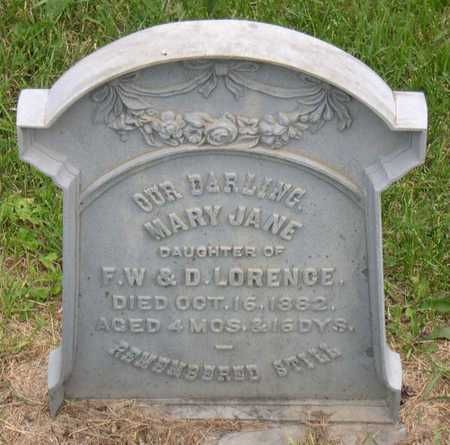 LORENCE, MARY JANE - Linn County, Iowa | MARY JANE LORENCE