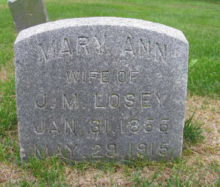LOSEY, MARY ANN - Linn County, Iowa   MARY ANN LOSEY
