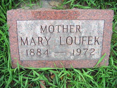 LOUFEK, MARY - Linn County, Iowa   MARY LOUFEK