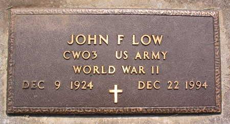 LOW, JOHN F. - Linn County, Iowa   JOHN F. LOW