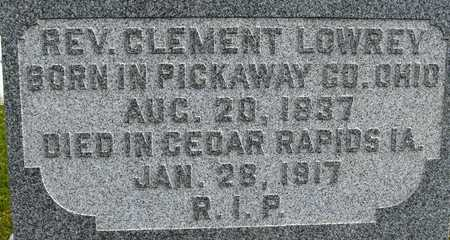 LOWREY, REV. CLEMENT - Linn County, Iowa | REV. CLEMENT LOWREY