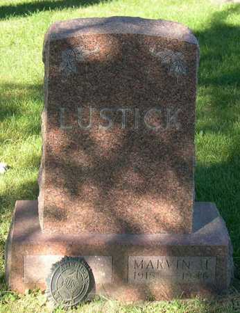 LUSTICK, MARVIN H. - Linn County, Iowa   MARVIN H. LUSTICK