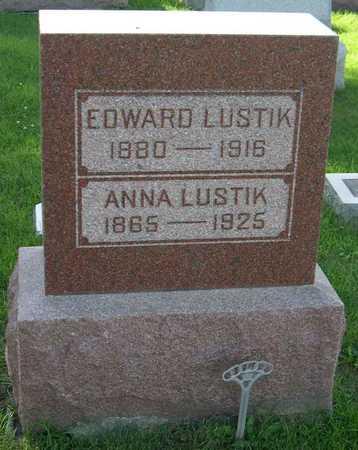 LUSTIK, ANNA - Linn County, Iowa   ANNA LUSTIK