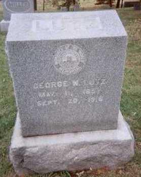 LUTZ, GEORGE W. - Linn County, Iowa   GEORGE W. LUTZ