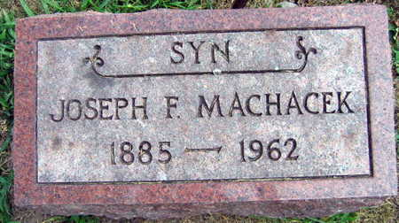 MACHACEK, JOSEPH F. - Linn County, Iowa | JOSEPH F. MACHACEK