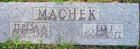 MACHEK, LEO E. - Linn County, Iowa | LEO E. MACHEK