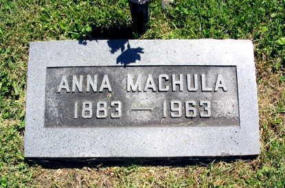 MACHULA, ANNA - Linn County, Iowa   ANNA MACHULA