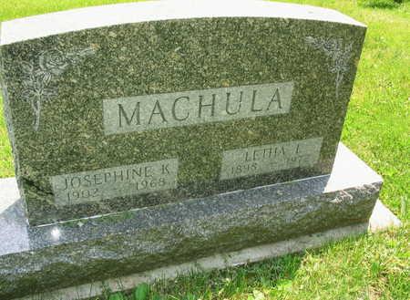 MACHULA, JOSEPHINE K. - Linn County, Iowa | JOSEPHINE K. MACHULA