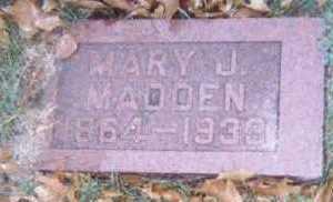 MADDEN, MARY J. - Linn County, Iowa   MARY J. MADDEN