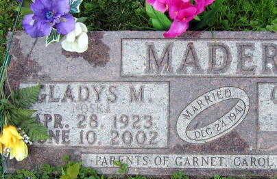 MADEN, GLADYS - Linn County, Iowa | GLADYS MADEN