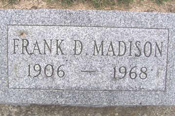 MADISON, FRANK D. - Linn County, Iowa | FRANK D. MADISON