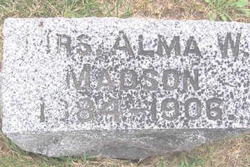 MADSON, ALMA W. - Linn County, Iowa | ALMA W. MADSON