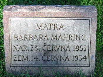 MAHRING, BARBARA - Linn County, Iowa | BARBARA MAHRING
