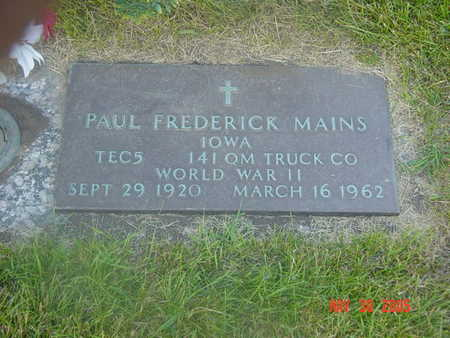 MAINS, PAUL - Linn County, Iowa   PAUL MAINS