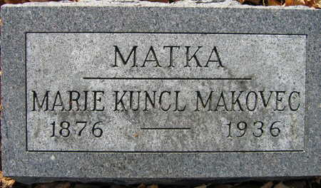 KUNCL MAKOVEC, MARIE - Linn County, Iowa | MARIE KUNCL MAKOVEC