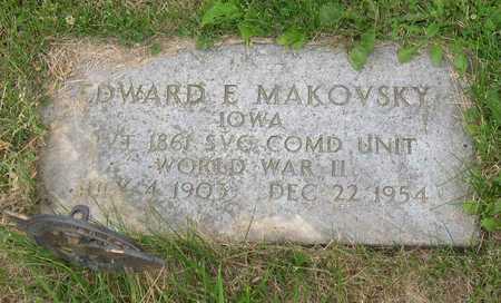 MAKOVSKY, EDWARD E. - Linn County, Iowa | EDWARD E. MAKOVSKY