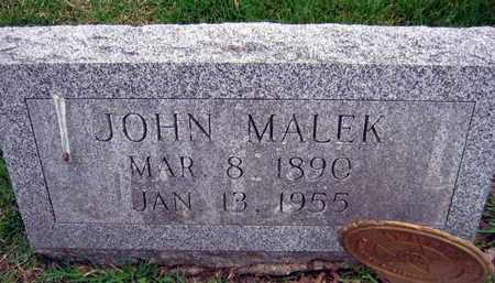 MALEK, JOHN - Linn County, Iowa | JOHN MALEK