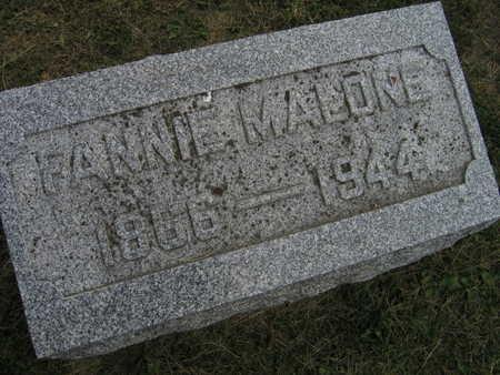MALONE, FANNIE - Linn County, Iowa | FANNIE MALONE